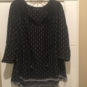 Signature Studio | Plus Size Black Pattern Blouse